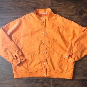 Orange vintage sports wear jacket